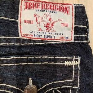 True Religion Ricky Super T Men Jeans size 38x34